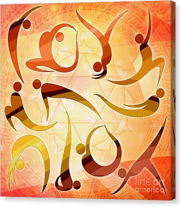 Yoga Asanas Canvas Print by Bedros Awak