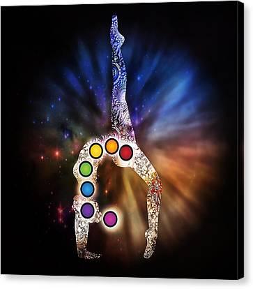Yoga Chakra Art Canvas Print