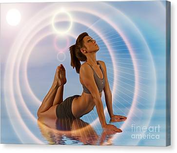 Yoga Girl 1209206 Canvas Print by Rolf Bertram