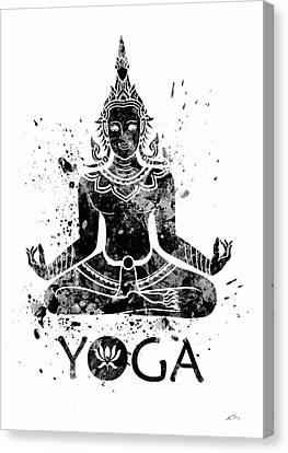 Buddha Art Canvas Print - Yoga Meditation 2 Watercolor Print  by Svetla Tancheva