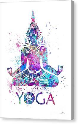 Buddha Art Canvas Print - Yoga Meditation Watercolor Print by Svetla Tancheva