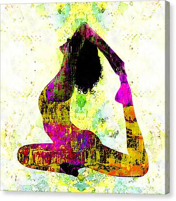 Yoga - One-legged King Pigeon Pose Canvas Print by Stacey Chiew