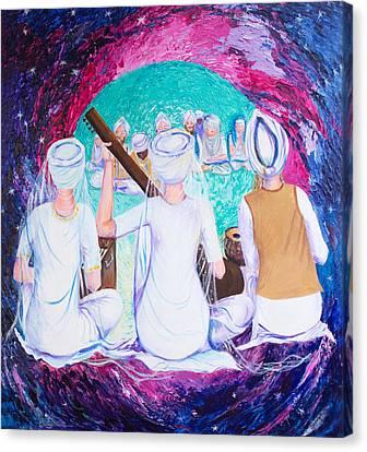 Sikh Art Canvas Print - Yogi Ji's Sikhs by Sarabjit Singh