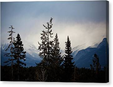 Canvas Print featuring the photograph Yoho Mountains British Columbia Canada by Jane Melgaard