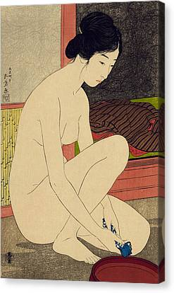 Yokugo No Onna Canvas Print by Goyo Hashiguchi