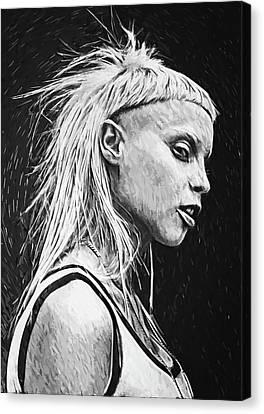 Alternative Music Canvas Print - Yolandi Visser by Taylan Apukovska