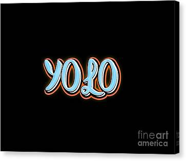 Yolo Tee Canvas Print by Edward Fielding