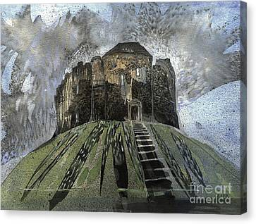 York Castle Canvas Print by Elizabetha Fox