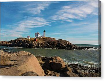 York Maine Lighthouse The Nubble Canvas Print by Mim White