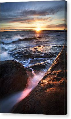 York Maine Seascape Canvas Print by Eric Gendron