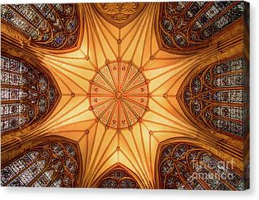 York Minster - Chapter House Canvas Print by Martin Williams