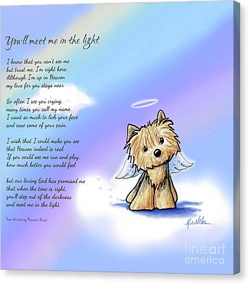 Yorkie Memorial Canvas Print by Kim Niles