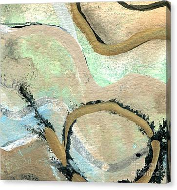 Yorkshire Moors Map 1 Canvas Print by Elizabetha Fox
