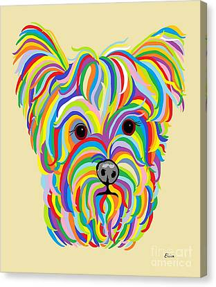 Yorkshire Terrier ... Yorkie Canvas Print by Eloise Schneider
