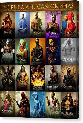Yoruba African Orishas Poster Canvas Print by James C Lewis
