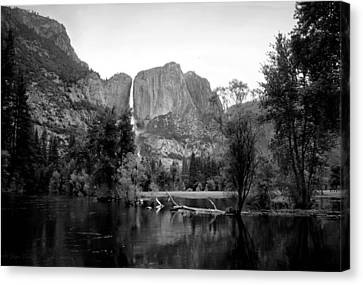 Yosemite A Scenic View To Remember B And W Canvas Print