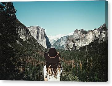 Yosemite Awe Canvas Print by Marji Lang