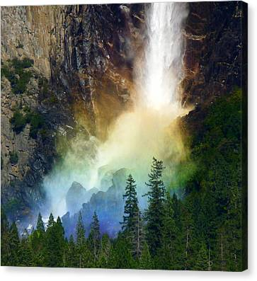 Yosemite Bridalveil Fall Rainbow Canvas Print