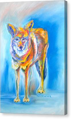 Canvas Print featuring the pastel Yosemite Coyote by Pat Crowther