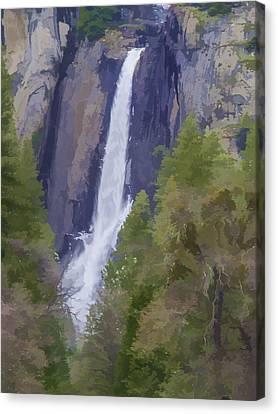 Canvas Print - Yosemite Falls Digital Watercolor by Bill Gallagher