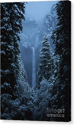 Yosemite Falls In January Canvas Print