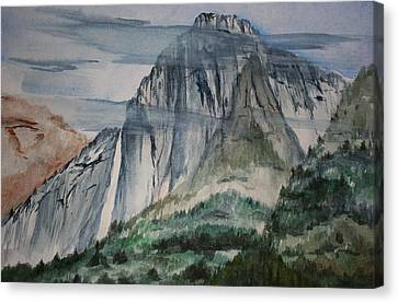 Yosemite Falls Canvas Print by Julie Lueders