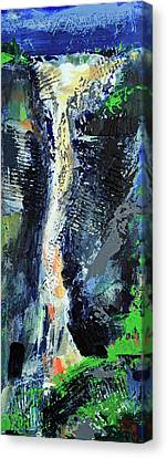 Canvas Print featuring the painting Yosemite Falls by Walter Fahmy
