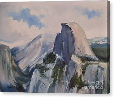 Yosemite Half Dome From Glacier Point Canvas Print by Karen Winters