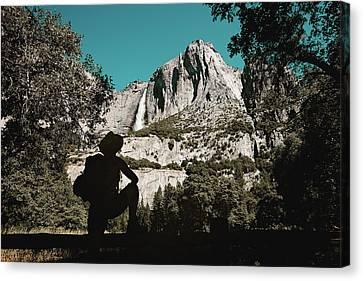 Yosemite Hiker Canvas Print by Marji Lang