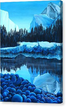 Yosemite In Blue Canvas Print