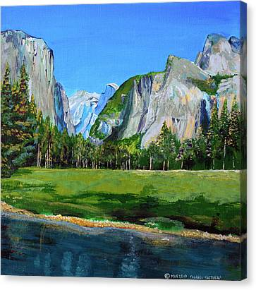 Yosemite National Park In The Spring Canvas Print by Charles and Stacey Matthews