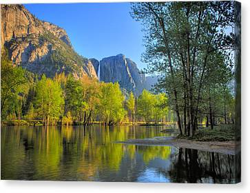 Canvas Print featuring the photograph Yosemite Reflections by Kim Wilson