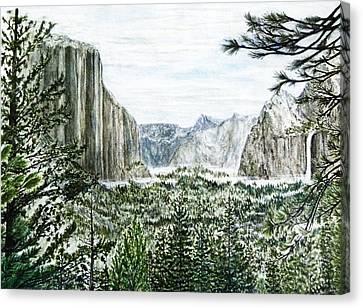 Yosemite ... The Tunnel Canvas Print by G H Hisayasu