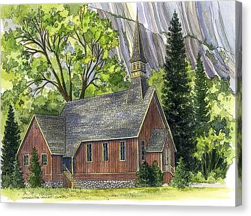 Chape Canvas Print - Yosemite Valley Chapel by Mark Jennings