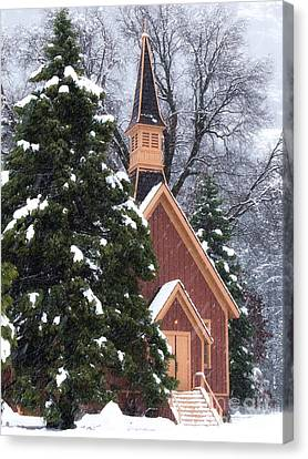 Yosemite Valley Chapel  Canvas Print