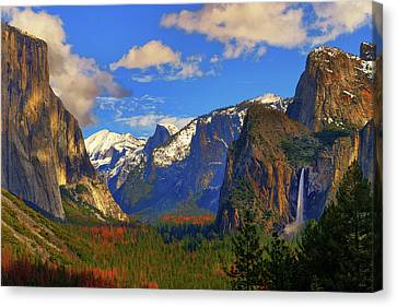 Canvas Print featuring the photograph Yosemite Valley Tunnel View by Greg Norrell