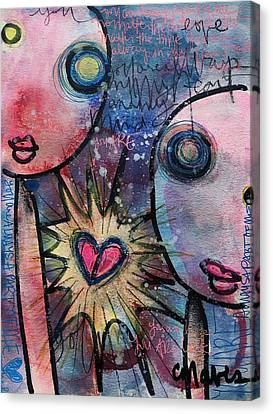 You Are Always In My Heart  Canvas Print by Laurie Maves ART