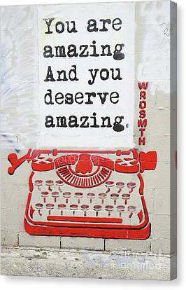 You Are Amazing Canvas Print by Nina Prommer