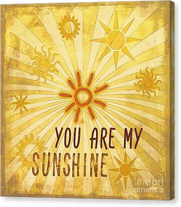 Sun Rays Canvas Print - You Are My Sunshine by Jutta Maria Pusl