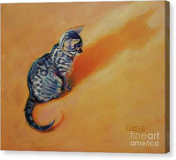 Prussian Blue Canvas Print - You Are My Sunshine by Kimberly Santini