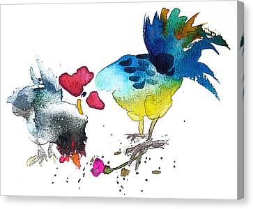 You Are My Sweet Heart Canvas Print by Miki De Goodaboom