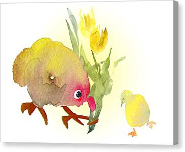 You Are The Cutest Thing Ever Canvas Print by Miki De Goodaboom