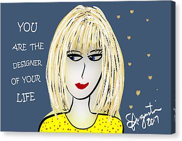 Lead The Life Canvas Print - You Are The Designer Of Your Life by Sharon Augustin