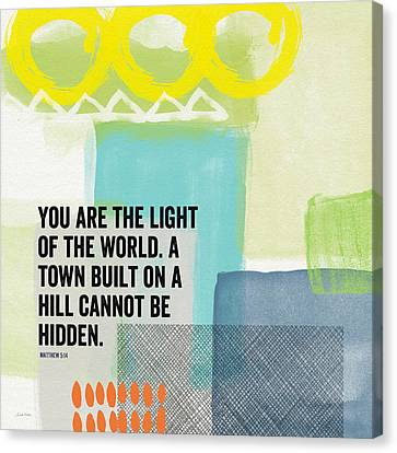You Are The Light- Contemporary Christian Art By Linda Woods Canvas Print