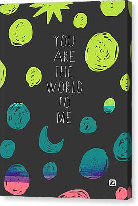 Canvas Print featuring the painting You Are The World by Lisa Weedn