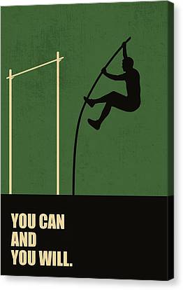 You Can And You Will Life Inspirational Quotes Poster Canvas Print