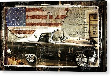 You Can Drive Vintage T-bird Canvas Print by Mindy Sommers