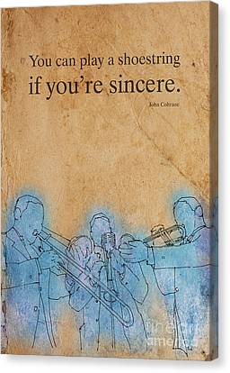 You Can Play A Shoestring, Coltrane Canvas Print by Pablo Franchi