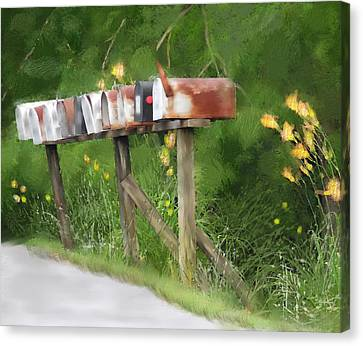 You Have Mail Canvas Print by Mary Timman