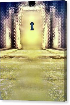 You Hold The Key Canvas Print by Another Dimension Art